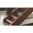 """Item # 1350 - Custom - 1-3/4"""" to 4"""" Thick Solid Wood Open Riser Treads"""